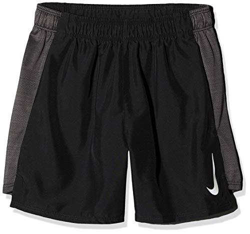 Herren-dri-fit-trainings-shorts (Nike Jungen B NK FLX 6IN Challenger Shorts, Black/Thunder Grey, XL)