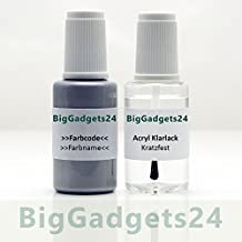 Lackstift Set für Nissan QABG Pearl white Grundton 20ml + Klarlack 20ml