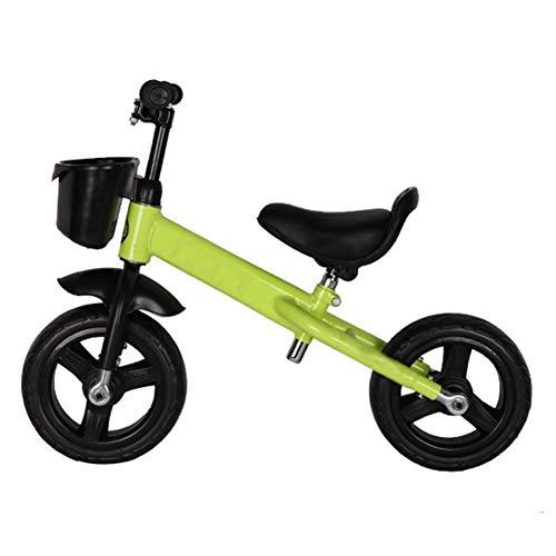 YJFENG-Laufrad Kinder Balance Bikes Höhenverstellbar Titan Leeres Rad Fender Nicht Leicht Zu Beschädigen Stabile Struktur,5 Farben (Color : Green, Size : 80x58cm)