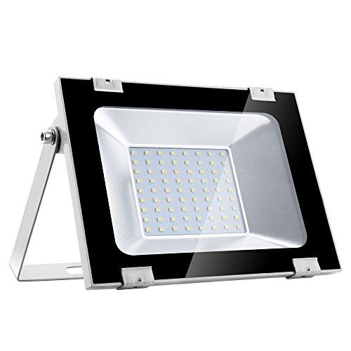 Yuanline Focos LED Exterior de Blanco Frío 50W 5000LM, 6000-6600k, Ultrafino y...