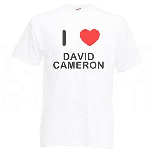I Love David Cameron - T-Shirt Weiß