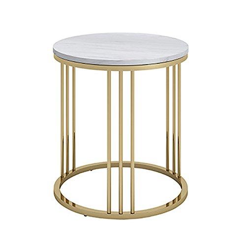 YANFEI Marmortisch einfache Moderne Wohnzimmer Couchtisch Schmiedeeisen Schlafzimmer kleine Runde Tisch (größe : 50 * 55cm)