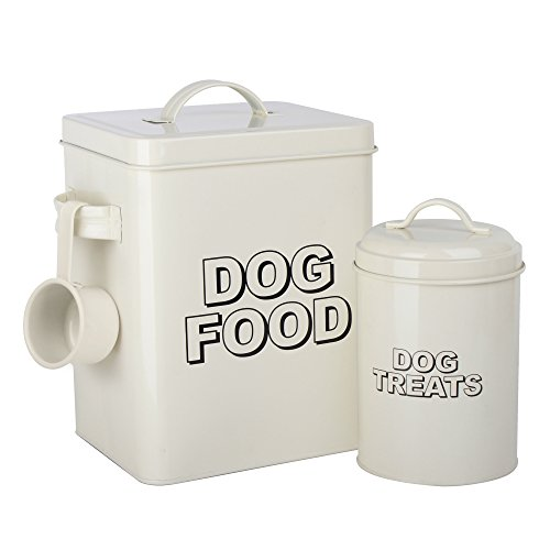 11x11x18 cm Premier Housewares 1.2 Litre Adore Pets 1.2 Litro Bote para conservar Alimentos-Good Dog Acero Inoxidable Buen Perro Natural