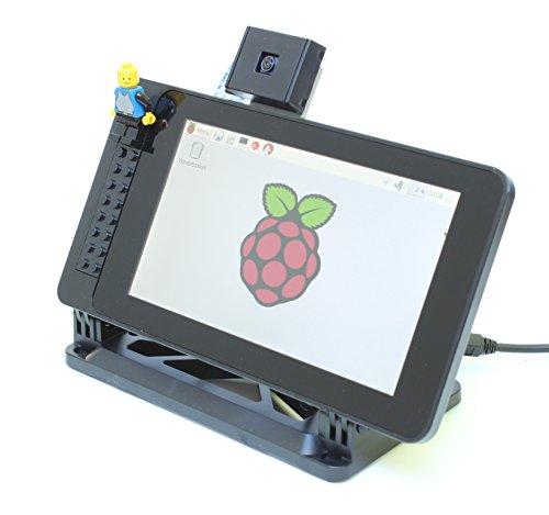 Custodia per il Raspberry Pi 17,8cm touchscreen display-ufficiale LEGO compatibile anteriore e angolo regolabile