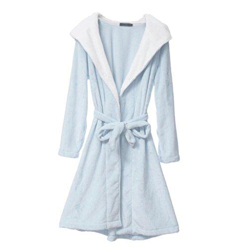 ZLR Warm Home Clothes Pajamas Cute Cartoon Ladies Nightgown Thickening Warm Lady Pajamas