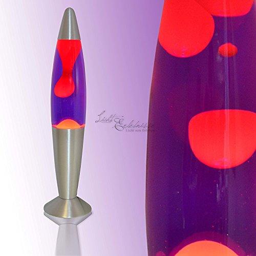 Lavalampe 35cm / rot lila / Timmy / E14 25W / mit Kabelschalter / Geschenkidee Weihnachten / inklusive Leuchtmittel / Magmaleuchte