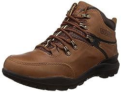Redchief Mens Tan Leather Boots - 6 UK/India (39 EU) (RC5070)