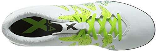adidas Herren X 15.4 TF Fußballschuhe, Bunt Weiß (Ftwr White/Semi Solar Slime/Core Black)