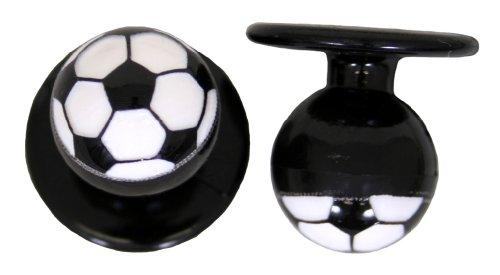 Kochknöpfe Kugelknöpfe Knöpfe à 12 Stück als Fußball