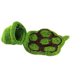 Cute Baby Infant Tortoise Newborn Turtle Costume Photo Photography Prop 0-6 Mon