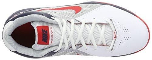 Nike Herren the Air Overplay Ix Basketballschuhe Blanco (White / University Red-Obsidian)