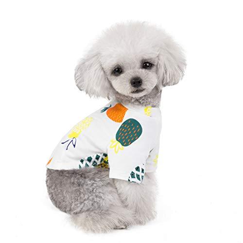 Pet T-Shirt Hundeshirt, Sommershirt für Hunde,Sommer Niedlicher Druck Ärmellos Tank Top Hundebekleidung Weste für Kleine Medium Puppy Dogs Katzen (Top Dog Kostüme 2019)