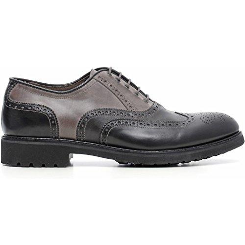 Nero Giardini , Chaussures de ville à lacets pour homme Nero (Ilcea Nero/Kenia Antracite/Kenia Fumo)