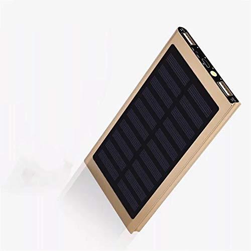 20000mAH Tragbares Ladegerät Solar Power Bank Externer Akku Dual USB 2.1A für iPhone, iPad, Samsung, Smartphones und mehr (Iphone-ladegerät Tragbare Externes)