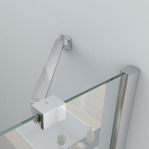 Duschkabine mit 180 Grad Schwingtür, 90 x 75 (Seitenwand) x 195cm im Vergleich - 6