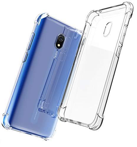 Capa QHOHQ para Xiaomi Redmi 8A, Capa de TPU Gel de Silicone Fino Transparente Capa Ultra Fina para Xiaomi Redmi 8A (Transparente)