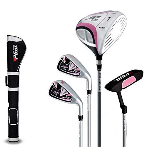 DSLINA Präzisionswaffen/Damenhalb-Set-Stäbe 4-Links-Damen Halbset/Golf-Club Komplettes Set Mit Tasche/Golf-Pusher-Graphit Welle