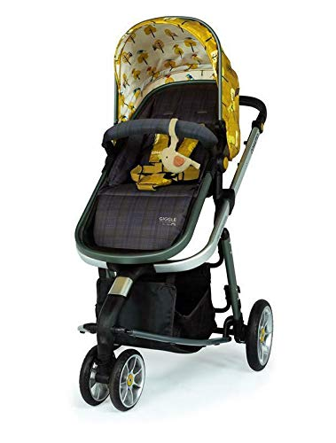 Cosatto Giggle 3 Travel System in Spot The Birdie with Car Seat Base Bag footmuff & Raincover Cosatto Easily transforms to be used with carrycot, pushchair seat and matching Cosatto group 0+ car seat (included). Compact, easy fold. Lightweight aluminium chassis. All-round suspension for a smooth ride. Quick-release removable premium wheels. 7