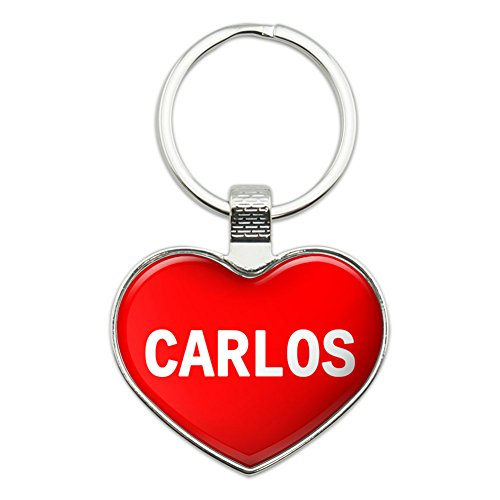 Preisvergleich Produktbild Metall Schlüsselanhänger Ring I Love Herz Namen D Carlos