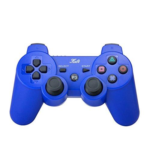 Kabelloser Bluetooth-Controller 6-Achs Game Pad Double Shock Joystick mit gratis Ladekabel für PS3Controller Playstation 3Controller von KABI