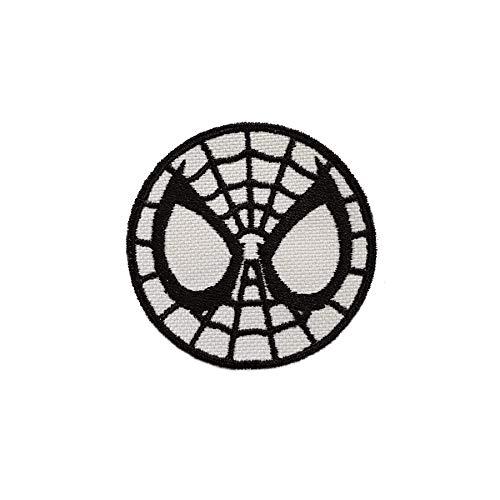 Emporium Stickerei Superhelden zum Aufbügeln, Bestickt, für Partys, Kostüme, Jeans, Aufnäher, Cartoon-Jacke, Badge Bag, Multi, M (Medium Spiderman Kostüm)