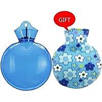 KOMEISHO Runde Form PVC-heiße kalte Wasserflasche-Tasche mit Abdeckung Winter-Ansatz Handwärmer-Beutel Heißes... preisvergleich bei billige-tabletten.eu