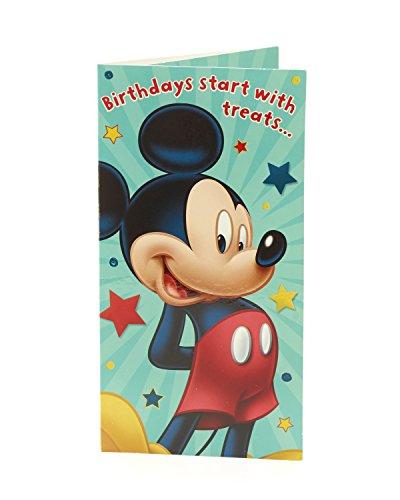 Carlton 441830-0Disney Mickey Mouse Geld Wallet Geschenk Karte Halter