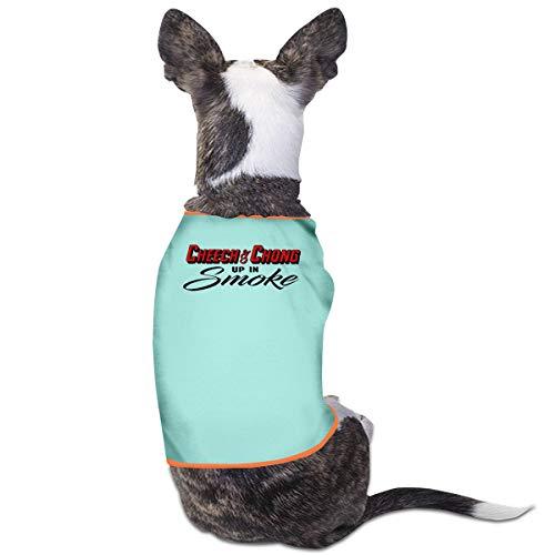 Cheech Kostüm Chong - Jiaojiaozhe Cheech & Chong Up In Smoke Pet Service Pet Clothing Funny Dog Cat Costume Tshirt Sky Blue