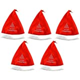 VSHINE Santa Claus Caps , Christmas Hats For Kids And Adults, Free Size, XMAS Caps Set Of 12 Pcs