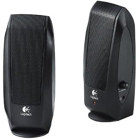 Logitech S120 - Altavoces de 2.3 vatios (Fuente de alimentación de Reino Unido), color negro