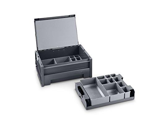 bott varioSafe   L Tragebox mit 18 Kleinteileboxen, 454 x 318 x 188 mm, 62511033.19V