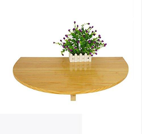 Table pliante murale en bois Table ronde demi-ronde Table d'appoint de cuisine Table d'ordinateur de bureau