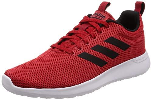 adidas Lite Racer CLN, Scarpe Running Uomo, Rosso Scarle/Cblack/Ftwwht, 42 2/3 EU