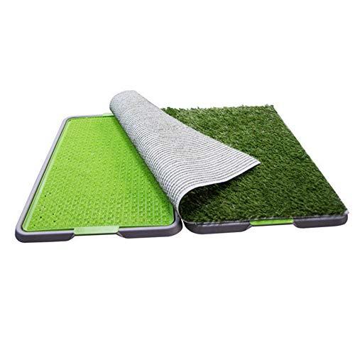 WeeLion Lawn Flaches Haustier-WC, mittelgroßes Hundegras-WC-Töpfchen und Toilettenmatte (68cm x 86cm)