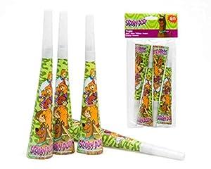 Atosa-Atosa-17120-pack 4 cornetas 20 cms Scooby doo, Color Verde, Talla Única (17120)