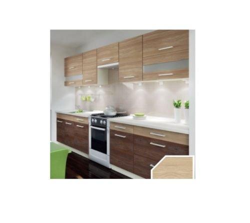 Küche Schränke Küchenzeilen CUBA LIBRE 320/260 cm cm Eiche Andante/Eiche Allegro