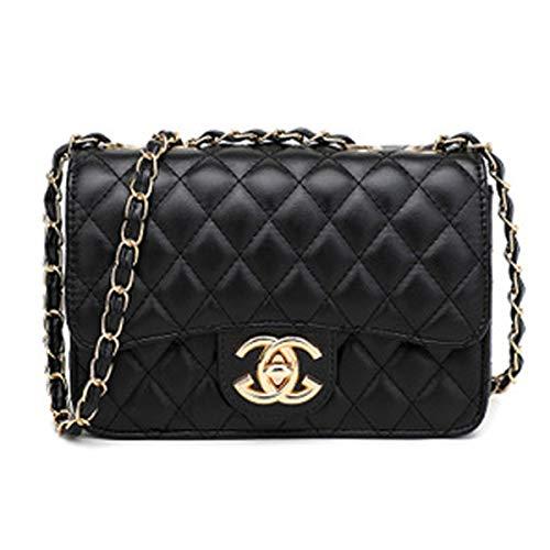 liyuan Handtaschen Messenger Bag Lingge Kette Paket Schulter Mode Mini Tasche (Black6, OneSize) -