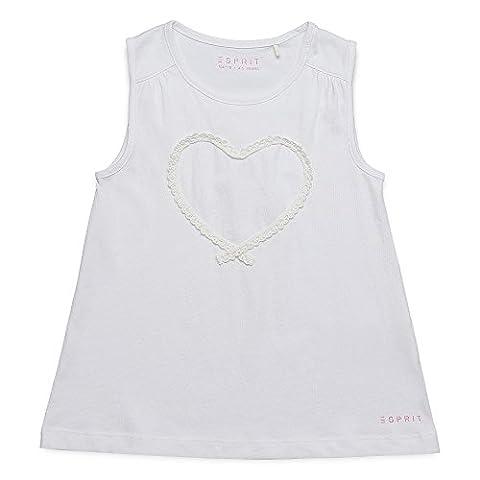 ESPRIT Mädchen T-Shirt RJ10383 Weiß (White 010), 116