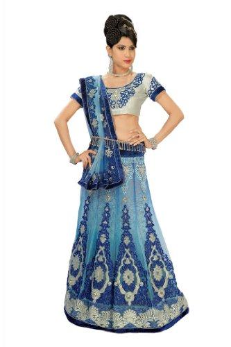 Chirag Sarees Net Blue Miss India Saree