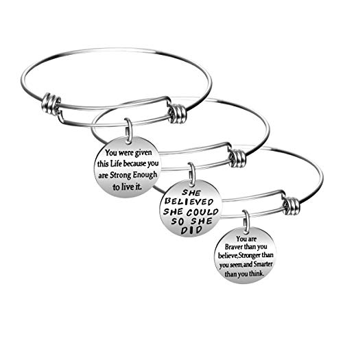 Imagen de bespmosp  pulsera de inspiración 3 unidades , diseño con texto en inglés