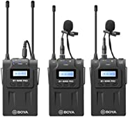 BOYA BY-WM8 Pro-K2 UHF Dual-Channel Wireless Microphone Receiver+Transmitter A+B+ LCD Screen for Canon Nikon Sony DSLR Camer