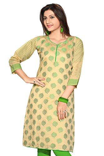 Plus Size Kurtis Jackat Silk Long Sleeves Plus Size Kurtis Anarkali Long Printed Embroidery Kurtis(Size