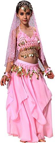 Karneval Halloween Kinder Mädchen Bauchtanz Kostüm (Von Tanz Indien Kostüme)