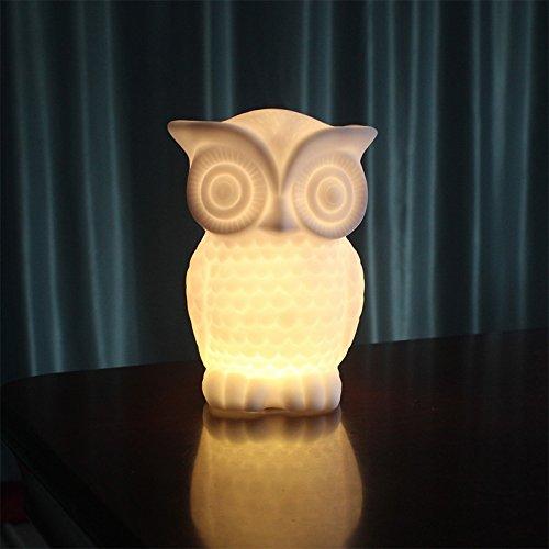 Etbotu Indoor dekorative Nachtlicht für Kinder Zimmer Party Dekor LED Nachtlicht Baby Eule Form PVC Tischlampe 1W warmes Weiß
