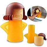 BESLIME Mikrowellenreiniger Angry Mama-Dampfreiniger Schneller Dampfreiniger für Mikrowelle Cool Mama Kühlschrankreiniger 1pcs,Gelb