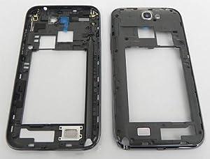 Samsung Galaxy Note 2 Rahmen Mittelrahmen Gehäuse N7100 Frame Cover Schale Schwarz