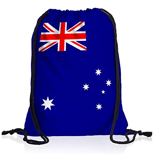 style3 Australien Turnbeutel Rucksack Tasche Australia Flagge WM EM Sport Beutel Festival Fahne Uni Schule Bunt
