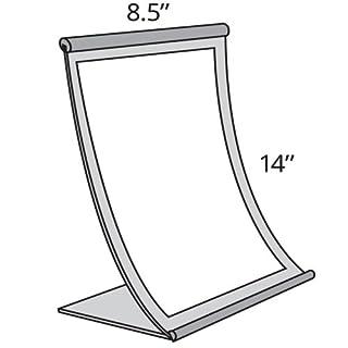 Azar Displays 300882 8.5-Inch W by 14-Inch H Curved Metal Frame