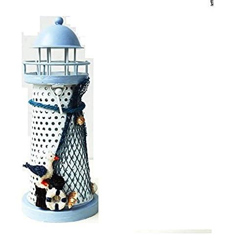 GYN Hierro del este Mediterráneo Faro creativo adorno para sala de estar u oficina más , A
