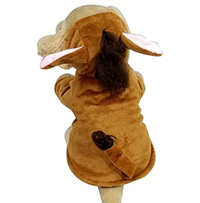 Pet Cat Dog Pet Puppy Halloween HORSE Costume Hoodie Small Dog Coat Brown XS S M L XL by pupproperty dog clothing